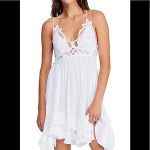 BNWT Free People One Adella Slip Dress WHITE XS